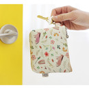 Yellow - Willow story illustration pattern coin case wallet