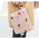 Pink - Willow story illustration pattern coin case wallet