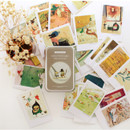 Willow garden illustration mini postcard set