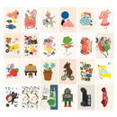 Composition of Gooly gooly daisy label sticker set