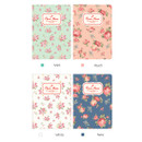 Colors of Pour vous flower pattern passport cover