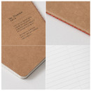 Detail of Thread stitching kraft nature lined notebook small