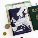 Indigo - World map passport cover case