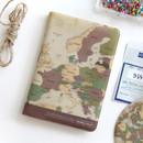 Vintage - World map passport cover case