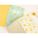 Promenade flower pattern mini lined notebook