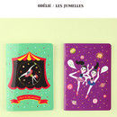Odelie, Les jumelles - Circus in the world mini lined notebook