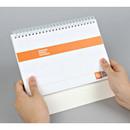 Wirebound undated weekly desk planner