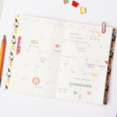 Monthly plan - 2015 Pour vous flower melody undated small diary