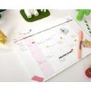 Wide & Smart monthly desk note planner