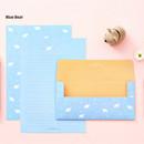 Blue bear - Animal letter paper and envelope set