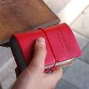 Raspberry red - Extra 30 pocket card case holder