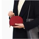 The Basic felt round standing zipper pouch ver.3