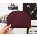 Burgundy - The Basic felt round standing zipper pouch ver.3