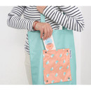 Peach - Mr.wood pocket foldable eco tote bag