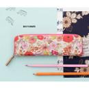 Day flower - Pattern handy zipper pencil case