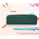 Navy berry - Pattern handy zipper pencil case