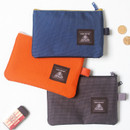 Double pocket mesh zipper pouch small