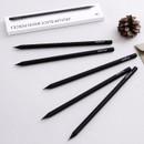 Black wood pencil set of 5