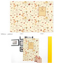 Willow yellow - Cute illustration school lined notebook