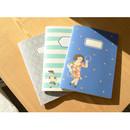 Du dum cute illustration liined notebook