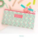 Flamingo - Pour vous melody zipper pencil pouch