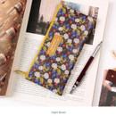 Night flower - Pour vous melody zipper pencil pouch
