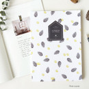 Pine cone - Fill the blank lovable pattern lined notebook