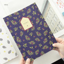 Olive - Fill the blank lovable pattern lined notebook