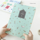 Golden berry - Fill the blank lovable pattern lined notebook