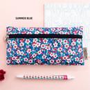 Summer blue - Pattern simple zipper pencil case