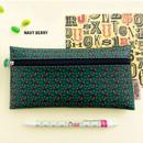 Navy berry - Pattern simple zipper pencil case