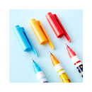 Pattern bright color 0.4mm twin gel pen
