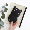 Black - Monomate cute cat iPhone 6 jelly case