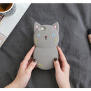 Gray - Monomate cute cat iPhone 6 jelly case