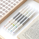 5 pastel colors double ended highlighter chisel/fine point