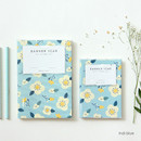 Indiblue - Breezy windy flower pattern lined notebook