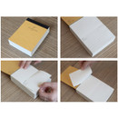 Natural and Pure lined notepad