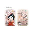 Myeong wol - Choo choo cat petite luggage name tag