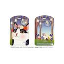 Secret night - Choo choo cat petite luggage name tag