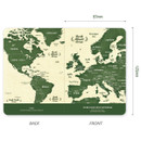Size of World map lined and plain small notebook