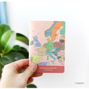 Colorful - World map lined and plain small notebook