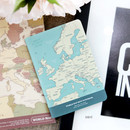 Mint - World map lined and plain small notebook