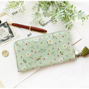 Mint - Willow story pattern zip around wallet with Tassle