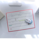 Monthly undated planner scheduler paper with desk mat