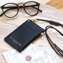 Black - Un jour de chance zip up flat card holder