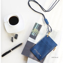 Deep blue - Un jour de chance zip up flat card holder