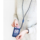 Length of Swing slim and flat card case holder with neck strap