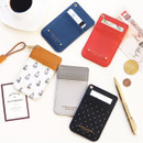 Swing slim and flat card case holder with neck strap