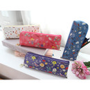 Willow story pattern daily zipper pencil case