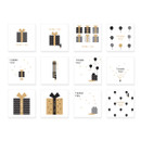 Composition of Thank you message card set